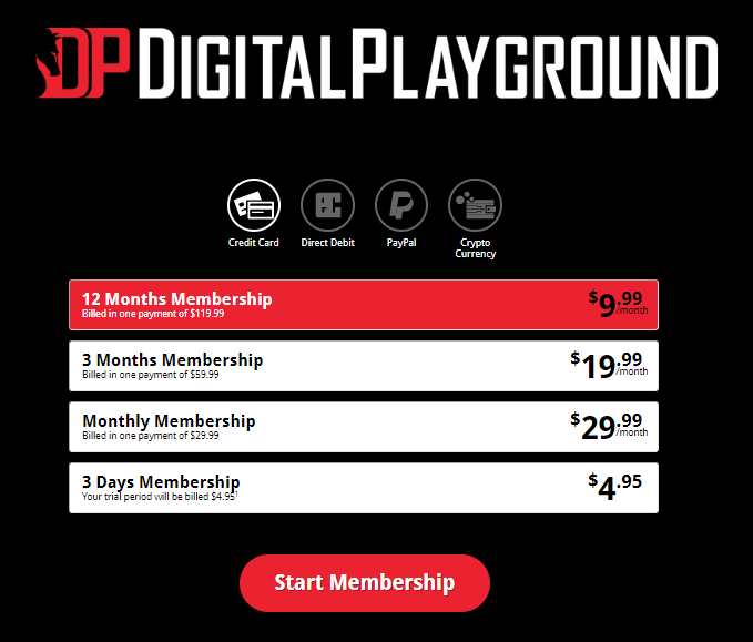 Digital Playground Membership Price
